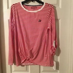 Tommy Hilfiger - Red & White Long Sleeved Tee